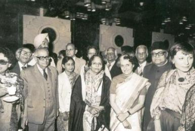 Ammi with Gandhi Abbajee